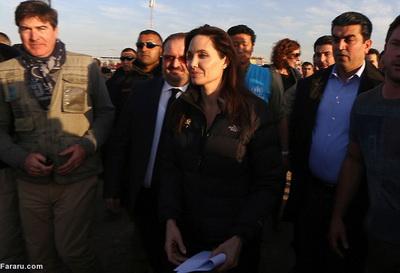 186285 666 - تصاویری از حضور آنجلینا جولی در کردستان عراق