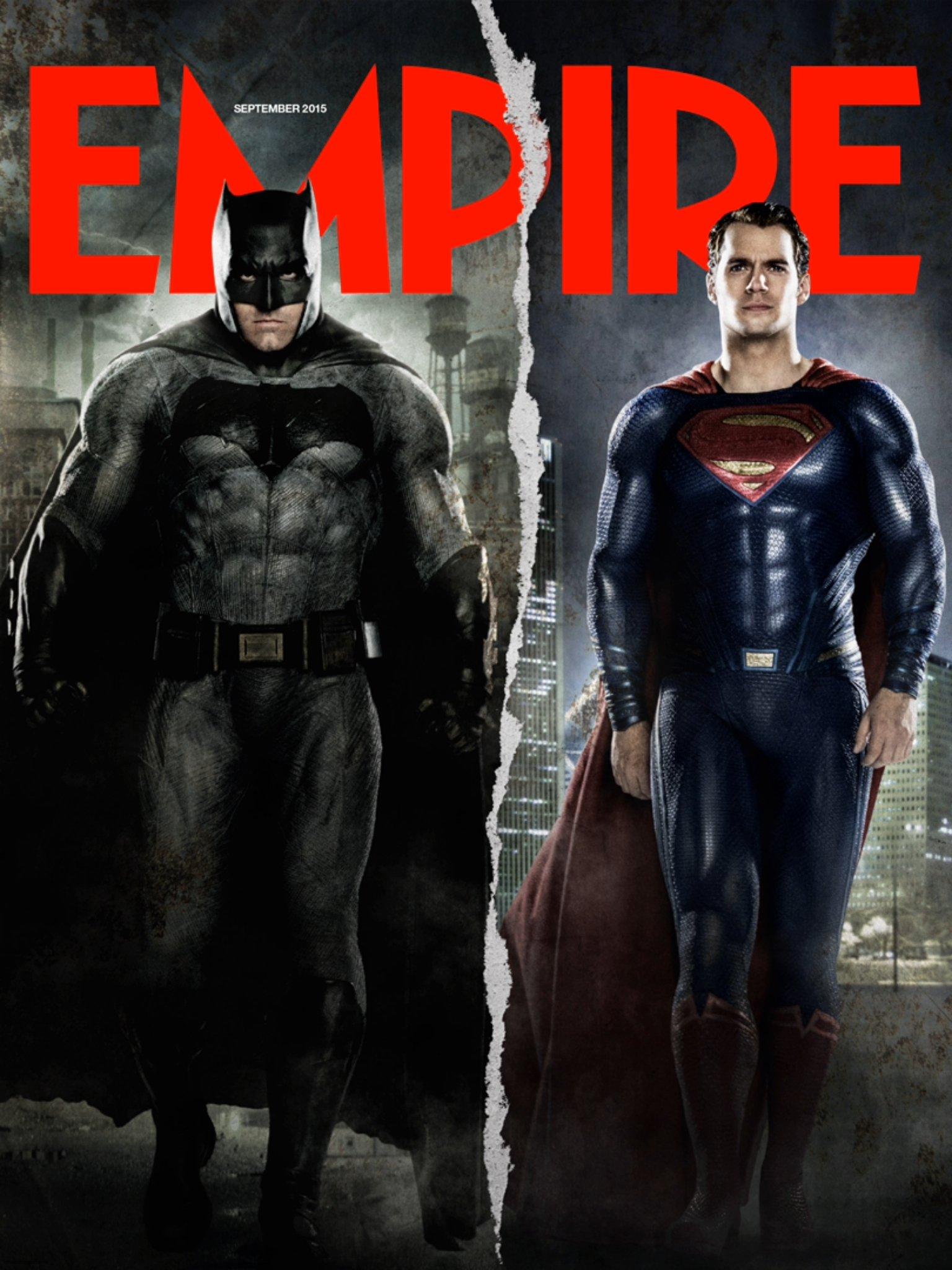 "batman vs superman image ben affleck henry cavill empire cover - ۱۸ نکته ای که مجله امپایر درباره فیلم ""بتمن علیه سوپرمن: طلوع عدالت"" منتشر کرده است"
