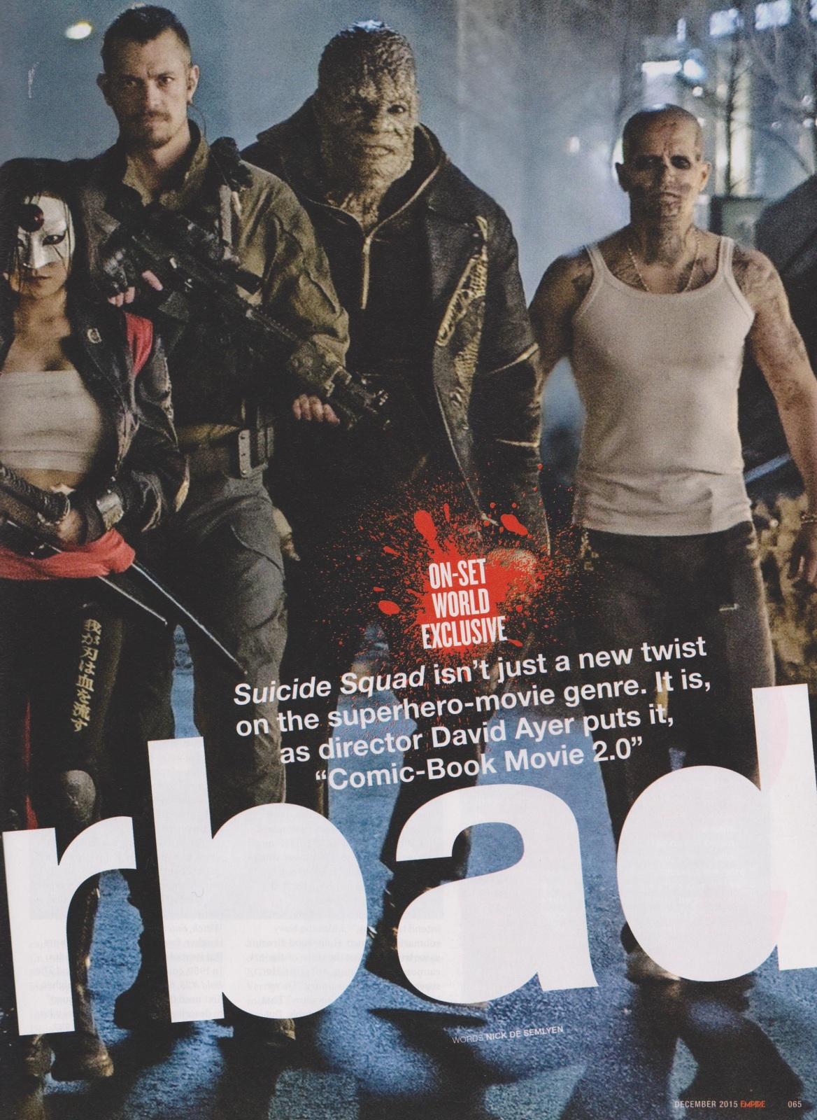 suicide squad movie killer croc - جوکر و جوخه ی انتحار روی مجله Empire