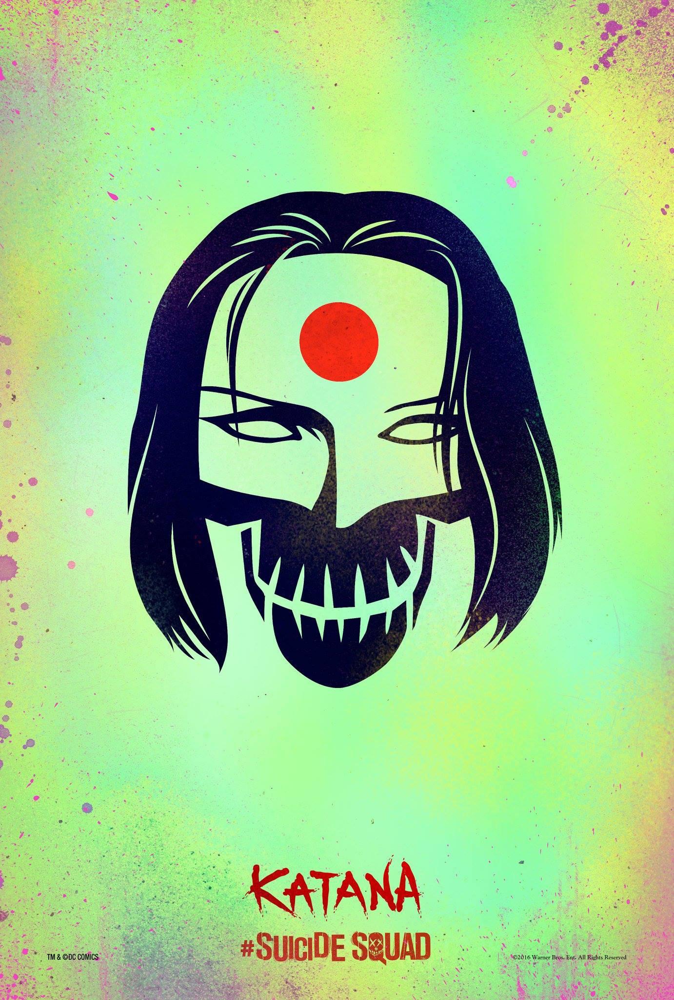 suicide squad movie poster katana - اولین پوسترهای رسمی «جوخه انتحار» منتشر شدند