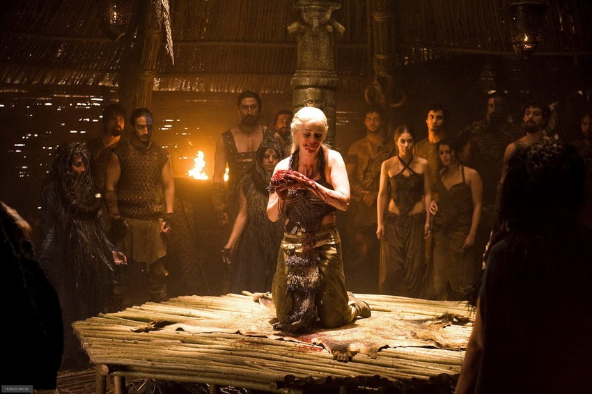 Daenerys horse heart - حقایقی جذاب درباره سریال «بازی تاج و تخت»