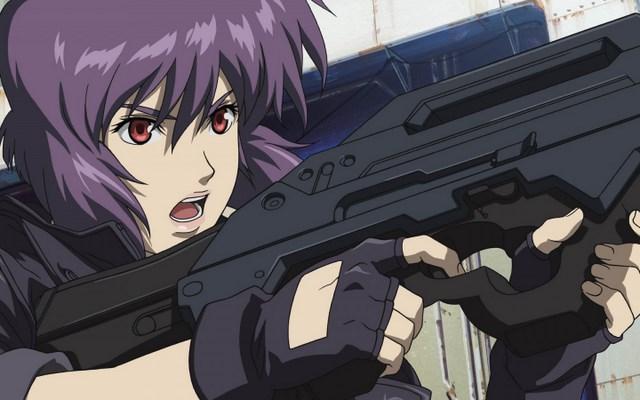 Ghost in the Shell firing a gun640x480 - معرفی بهترین انیمههای ژاپنی (بخش دوم)
